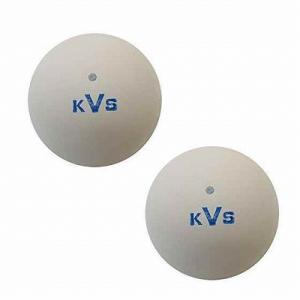 コクサイ バルブ式 ソフトテニスボール 練習球 2個入り(ホワイト) petslove