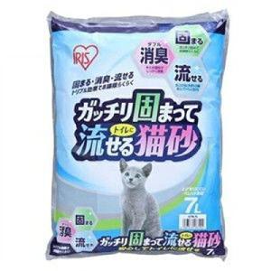 ガツチリ固まってトイレに 流せる猫砂7L|petslove