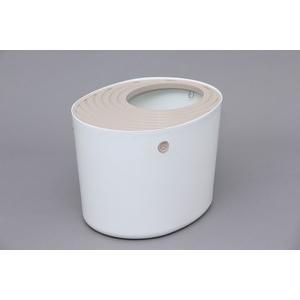 アイリスオーヤマ 【大人気!!新感覚猫ちゃんトイレ】上から猫トイレ PUNT-530  ホワイト