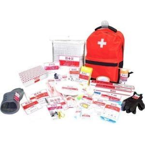 山善 防災バッグ 非常用 装備品 アイテム30点セット リュック 消耗品 防災 持ち運び 簡易|petslove