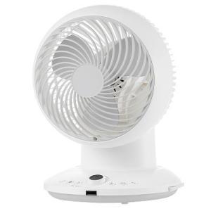 山善   DCエアーサーキュレーター 20cm  360°首振り  リモコン式  YAR-CD20(W)|ペッツ ラブ PayPayモール店