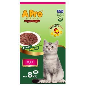 お買い得 キャットフード 多頭飼 猫のごはん 大容量 多頭飼 多くの猫ちゃん 大家族猫 増量猫フード AProエイプロ まぐろ  8kg|petslove