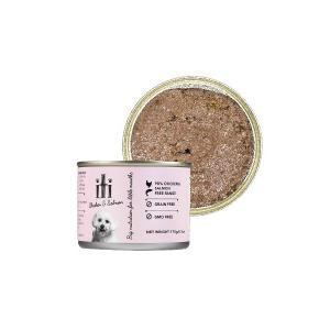 ドッグフード 缶詰 鮭 穀物不使用 グレインフリー iti(イティ) ドッグ チキン&サーモン缶 175g ペットフード|petspa