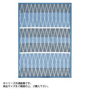 46×75cm ポルカ 玄関マット ライン MR1552 ブルー|petstore