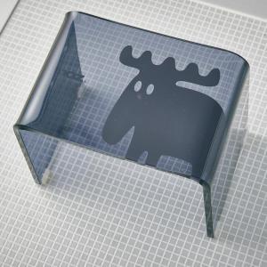 moz(モズ) アクリル製バスチェア ブラック EF-UB03BK|petstore
