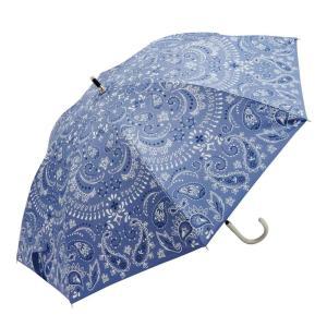 Fair mode 晴雨兼用 スライド傘 50cm ペイズリー SS-1911 ブルー|petstore