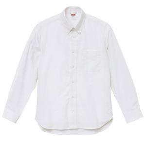 シャツ メンズ レディース 長袖 ボタンダウン 白 ホワイト ビジネス コットン 綿 制服 ポケット オックスフォード カラーシャツ Yシャツ クールビズ カジュアル|petstore