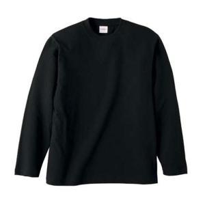 Tシャツ メンズ レディース 長袖 無地 uネック 綿 綿100 大きい 厚手 シャツ tシャツ スポーツ ブランド トップス クルーネック 丈夫 男 女 s m l 2l 3l 黒 色|petstore