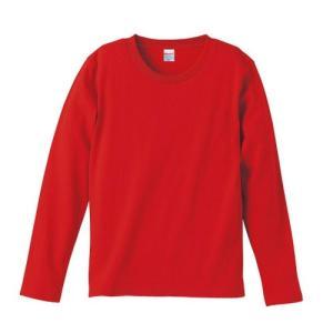 Tシャツ メンズ レディース 長袖 無地 uネック 綿 綿100 大きい 厚手 シャツ tシャツ スポーツ ブランド トップス クルーネック 丈夫 男 女 s m l 2l 3l 赤 色|petstore