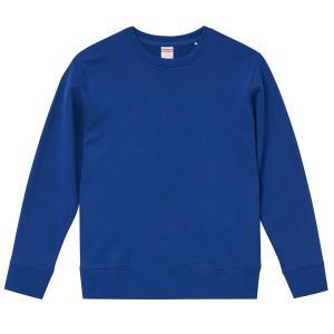 スウェット トレーナー メンズ レディース クルーネック 青 ブルー コットン トップス 上 部屋着 無地 綿 大きいサイズ パジャマ 兼用 xs s m l xl xxl 2l 3l|petstore