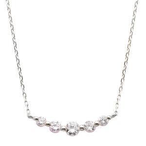ダイヤモンド ネックレス K18 ホワイトゴールド 0.3ct セールSALE%OFF お買い得 5ストーン 0.3カラット 5粒 ペンダント ダイヤネックレス