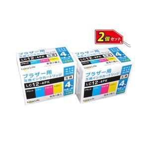 <title>まとめ ワールドビジネスサプライ 〔Luna Life〕 ブラザー用 互換インクカートリッジ LC12-4PK 4本パック×2 お買得セット LN BR12 4P 超特価 2PCS〔×2セット〕</title>