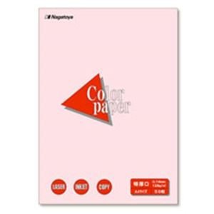 業務用100セット 無料 Nagatoya カラーペーパー 予約 コピー用紙 〔A4 50枚〕 さくら 特厚口 両面印刷対応