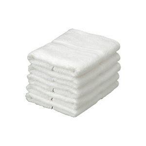 メーカー再生品 業務用30セット オーミケンシ エコフェイスタオル5枚セット 期間限定今なら送料無料 ホワイト9511