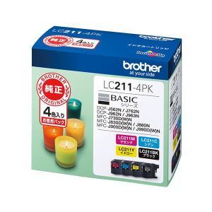 <title>ブラザーインクカートリッジ 4色パック WEB限定 LC211-4PK</title>