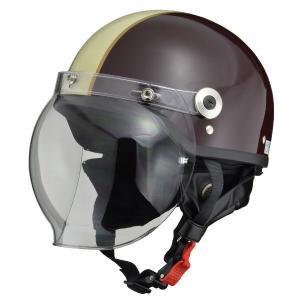 <title>リード工業 LEAD バブルシールド付ハーフヘルメット WEB限定 CR760 BR IV フリー</title>