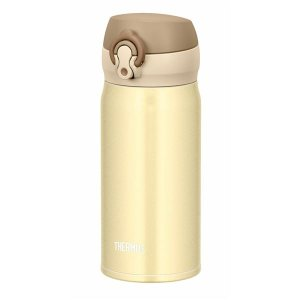 【商品名】 真空断熱ケータイマグ/水筒 【350ml】 クリーミーゴールド 超軽量 重さ約170g ...