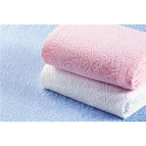 【商品名】 ジャカード織 タオルシーツ/ベッドシーツ 【ピンク】 幅140cm シングルサイズ 洗え...