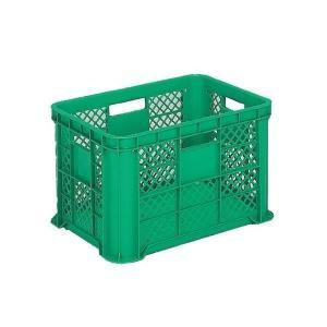 リステナー/網目コンテナボックス 〔MB-58〕 グリーン メッシュ構造 〔みかん 果物 野菜等収穫 保管 保存 物流〕〔代引不可〕|petstore