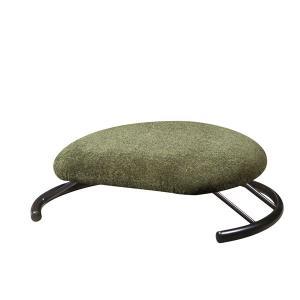 あぐら椅子/正座椅子 〔モスグリーン×ブラック〕 幅50cm 耐荷重80kg 日本製 スチール 『座...