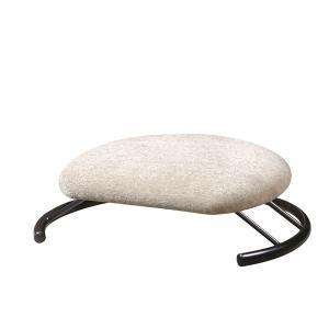 あぐら椅子/正座椅子 〔モスホワイト×ブラック〕 幅50cm 耐荷重80kg 日本製 スチール 『座...