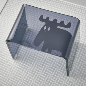 un bain × moz アクリル製バスチェア ブラック 風呂用品 入浴剤|petstore