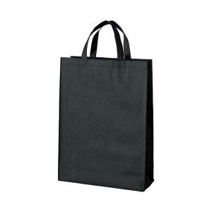 まとめ お求めやすく価格改定 スマートバリュー 国産品 不織布手提げバッグ中10枚 ブラック B451J-BK〔×30セット〕