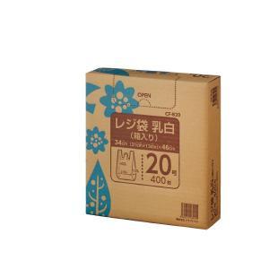 まとめ クラフトマン レジ袋 乳白 通販 箱入 希望者のみラッピング無料 20号 CF-B20〔×30セット〕 400枚