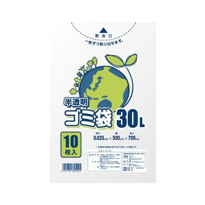 <title>在庫あり まとめ シモジマ LDポリ 025E 30L 半透明 10枚入 〔×50セット〕</title>