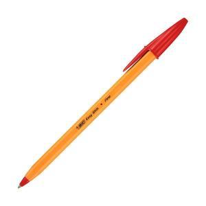 <title>在庫一掃 まとめ BIC 油性ボールペン ビックオレンジ0.7mm 赤 ORGF12EGRED 1箱 12本 〔×10セット〕</title>