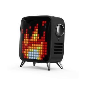 Divoom レトロテレビ型本格派Bluetoothスピーカー Tivoo Max-BLACK TIVOO-MAX_BLACK|petstore