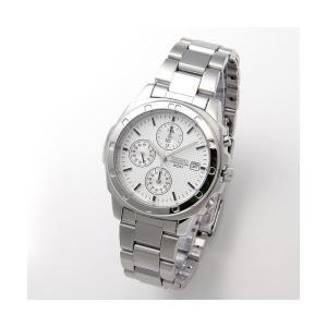 【商品名】 SEIKO(セイコー) 腕時計 クロノグラフ SND187P シルバー