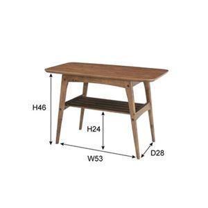 コーヒーテーブルS 〔Tomte〕トムテ 木製(天然木) 棚収納付き TAC-227WAL|petstore|02
