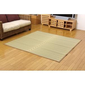 純国産 日本製 アウトレット 掛川織 い草カーペット ベージュ 江戸間10畳 賜物 松川 約435×352cm