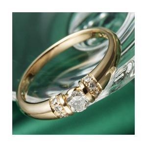 K18PG 0.28ctダイヤリング 指輪 輸入 19号 使い勝手の良い