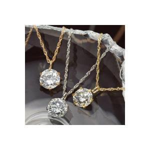 <title>永遠の定番 K18 0.5ctダイヤモンドペンダント ネックレス K18PG</title>