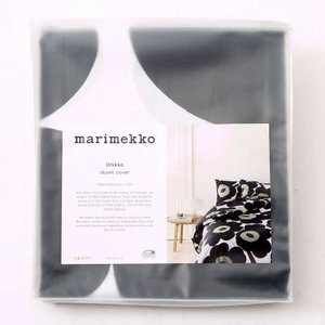marimekko UNIKKO DC 150*210 067676 WHT BLK レディース デュベ カバー マリメッコ|pettyne