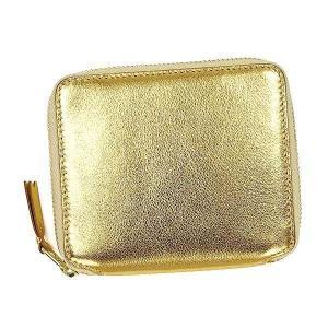 COMME des GARCONS コムデギャルソン  二つ折り財布 ゴールド SA2100G|pettyne