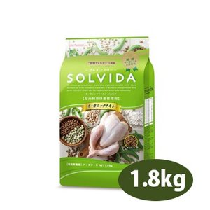 SOLVIDA ソルビダ グレインフリー チキン 室内飼育体重管理用 1.8kg 正規品|petwill30