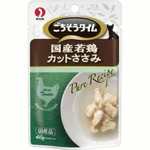 ごちそうタイム ピュアレシピ 国産若鶏カットささみ 40g|petyafuupro