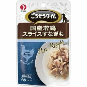 犬 おやつ ごちそうタイム ピュアレシピ 国産若鶏スライスすなぎも 40g|petyafuupro