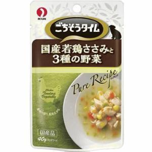 犬 おやつ ごちそうタイム ピュアレシピ 国産若鶏ささみと3種の野菜 40g|petyafuupro