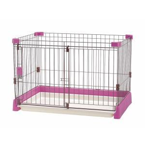 ペット用 お掃除簡単サークル 90-60 ピンク|petyafuupro
