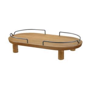 犬猫用食器台 ペット用 木製テーブル ダブル ブラウン|petyafuupro