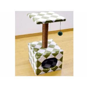 猫のおあそびポール グリーン ロータイプ |petyafuupro