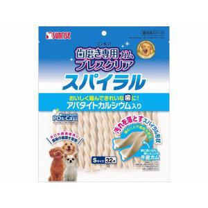 【現品限り】ゴン太の歯磨き専用ガム ブレスクリアスパイラル アパタイトカルシウム入り S ( 32本入 )/ ゴン太|petyafuupro
