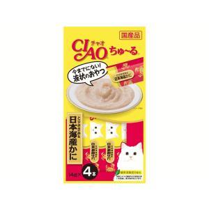 猫 おやつ チャオ ちゅ〜る とりささみ&日本海産かに 4本入り|petyafuupro