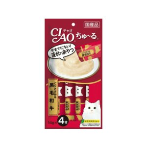 チャオ ちゅ〜る とりささみ&黒毛和牛4本入り|petyafuupro