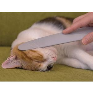 ねこじゃすり グレー(猫 毛づくろい ブラシ ケア)|petyafuupro
