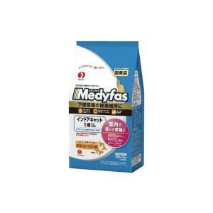 メディファス インドアキャット 1歳から成猫用 下部尿路の健康維持に チキン&フィッシュ味 560g(280g×2袋)|petyafuupro